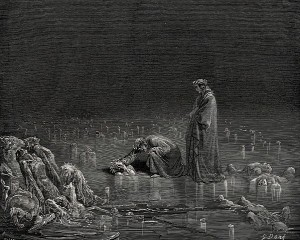Ninth Circle of Hell, Dante's Inferno. Artist: Paul Gustave Dore